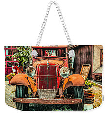 Weekender Tote Bag featuring the photograph Flat Bed Ford by Nick Zelinsky