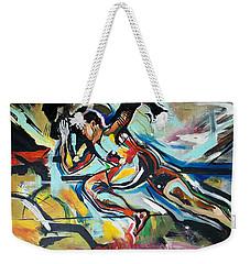 Weekender Tote Bag featuring the painting Flat Run by John Jr Gholson