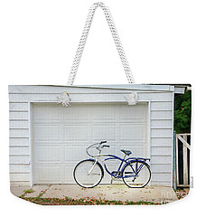 Weekender Tote Bag featuring the photograph Flat Tire Bicycle by Craig J Satterlee