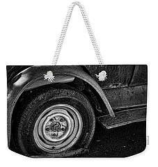 Flat Tire Weekender Tote Bag