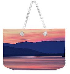 Flathead Lake At Sunrise Weekender Tote Bag