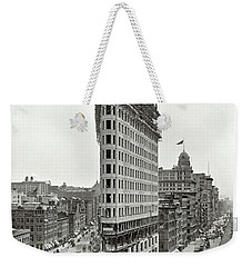 Flatiron Building Construction 1902 Weekender Tote Bag