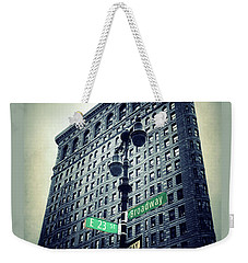 Weekender Tote Bag featuring the photograph Flatiron Directions by Jessica Jenney