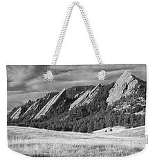 Flatiron Morning Light Boulder Colorado Bw Weekender Tote Bag