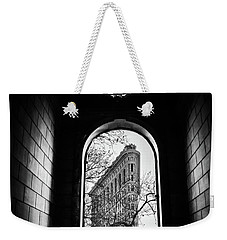 Weekender Tote Bag featuring the photograph Flatiron Perspective by Jessica Jenney