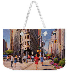 Flatiron Plaza, Summer Morning Weekender Tote Bag