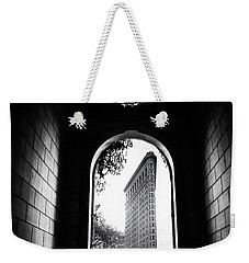 Weekender Tote Bag featuring the photograph Flatiron Point Of View by Jessica Jenney