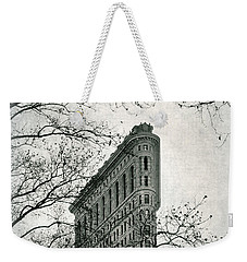 Weekender Tote Bag featuring the photograph Flatiron Vintage by Jessica Jenney