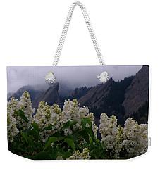 Flatirons White Lilacs Weekender Tote Bag