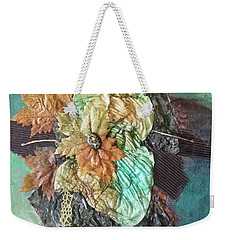 Weekender Tote Bag featuring the drawing Flavors Of Fall by Phyllis Howard