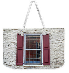 Weekender Tote Bag featuring the photograph Flemington, Nj - Side Shop Window by Frank Romeo