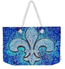 Fleur De Lis Blue Ice Weekender Tote Bag