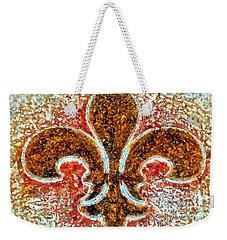 Fleur De Lis Gold Dust Weekender Tote Bag