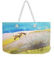 Weekender Tote Bag featuring the painting Fleur La Nuit by Ed Heaton
