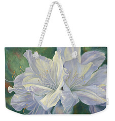 Fleurs Blanches Weekender Tote Bag