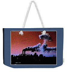 Flight 175 Mushroom Cloud Framed Example Weekender Tote Bag