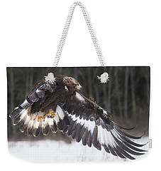 Flight Across The Snow Weekender Tote Bag
