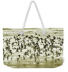 Weekender Tote Bag featuring the photograph Flight by Mary Jo Allen
