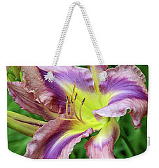 Flight Of Orchids Daylily Weekender Tote Bag by Eva Kaufman