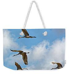 Flight Of The Cranes Weekender Tote Bag