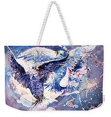 Flight Of The Doves Weekender Tote Bag