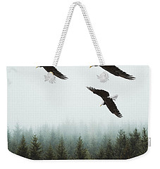 Weekender Tote Bag featuring the photograph Flight Of The Eagles by Ericamaxine Price