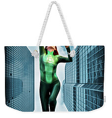 Flight Of The Green Lantern Weekender Tote Bag