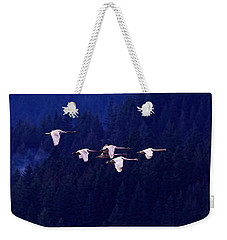 Flight Of The Swans Weekender Tote Bag by Sharon Talson