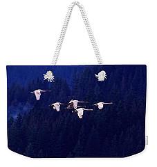 Flight Of The Swans Weekender Tote Bag