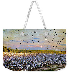 Weekender Tote Bag featuring the photograph Flight Over The Cotton by Jan Amiss Photography