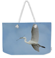 Weekender Tote Bag featuring the photograph Flight Path by Fraida Gutovich