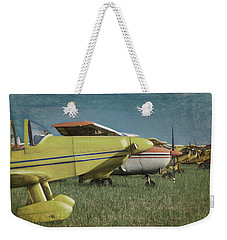 Weekender Tote Bag featuring the photograph Flightline by James Barber