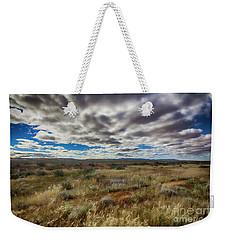 Weekender Tote Bag featuring the photograph Flinders Ranges Fields  by Douglas Barnard
