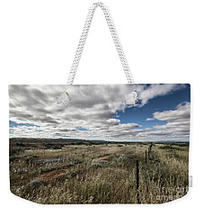 Weekender Tote Bag featuring the photograph Flinders Ranges Fields V2 by Douglas Barnard