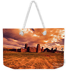 Weekender Tote Bag featuring the photograph Flinders Ranges Ruins by Douglas Barnard