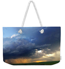 Flint Hills Storm Panorama 2 Weekender Tote Bag
