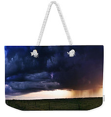 Flint Hills Storm Panorama  Weekender Tote Bag