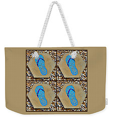 Flip Flop Square Collage Weekender Tote Bag
