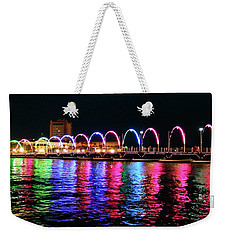 Weekender Tote Bag featuring the photograph Floating Bridge, Willemstad, Curacao by Kurt Van Wagner