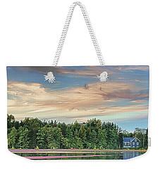 Floating Cranberries In Front Of Suningive Whitesbog Nj Weekender Tote Bag