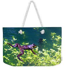 Floating Frog Weekender Tote Bag by Nick Gustafson