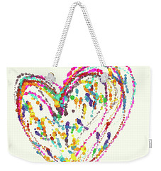 Floating Heart Weekender Tote Bag