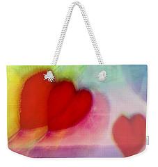 Floating Hearts Weekender Tote Bag