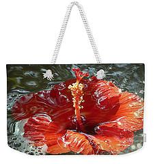 Floating Hibiscus Weekender Tote Bag by Lori Seaman