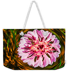 Weekender Tote Bag featuring the painting Floating In Time by Omaste Witkowski