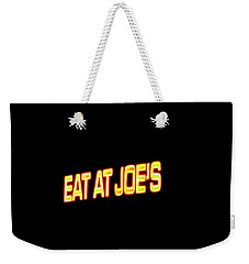 Floating Neon - Eat At Joes Weekender Tote Bag
