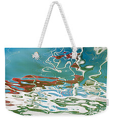 Floating On Blue 35 Weekender Tote Bag