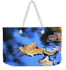 Weekender Tote Bag featuring the photograph Floating On The Reflected Sky by Doris Potter