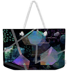 Weekender Tote Bag featuring the digital art Floating Original Abstract Art by Ann Powell