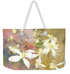 Floating Petals Weekender Tote Bag by Colleen Taylor